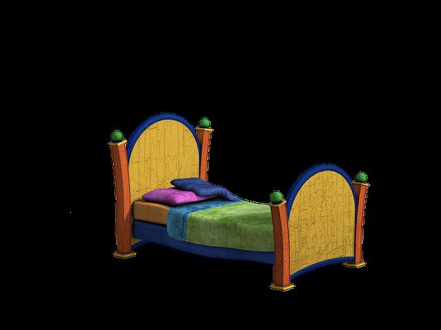 Vložte priestor do rozkladacej postele