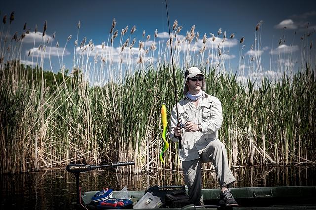 rybář na řece