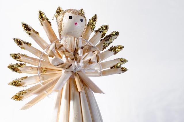 slaměný andílek